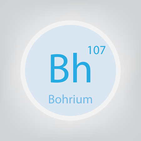Bohrium Bh chemical element icon- vector illustration 일러스트