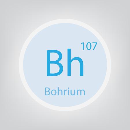 Bohrium Bh chemical element icon- vector illustration Banco de Imagens - 105067637