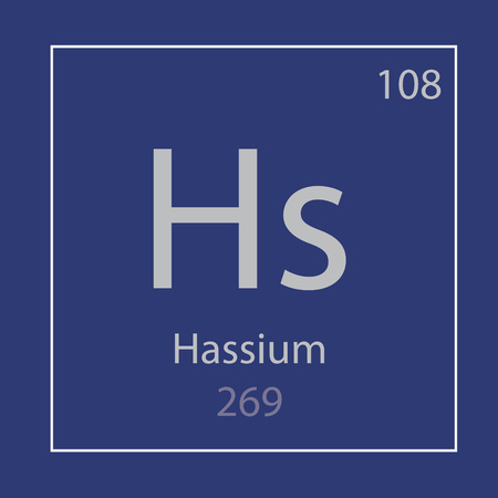 Hassium, Hs chemical element icon 일러스트