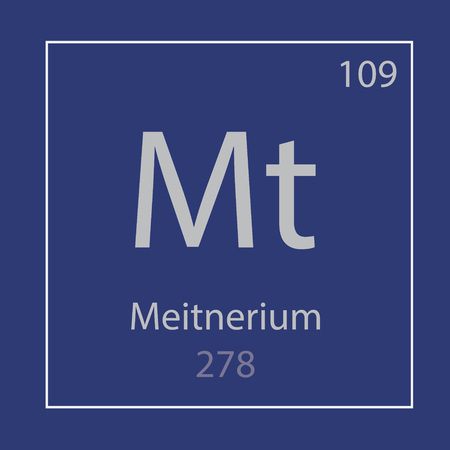Meitnerium Mt chemical element icon- vector illustration Ilustração
