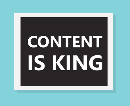 Content is king concept- vector illustration