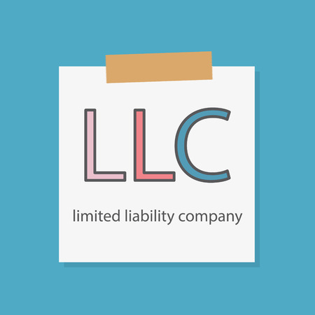 LLC (Limited Liability Company) written in a notebook paper