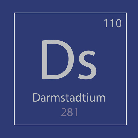Darmstadtium Ds chemical element icon
