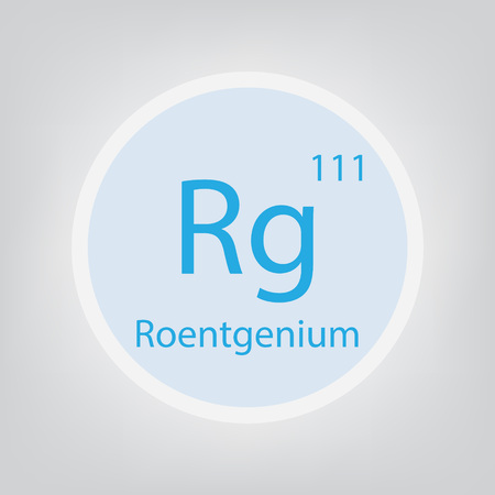 Roentgenium Rg chemical element icon- vector illustration