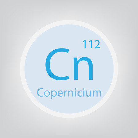 Copernicium Cn chemical element icon- vector illustration
