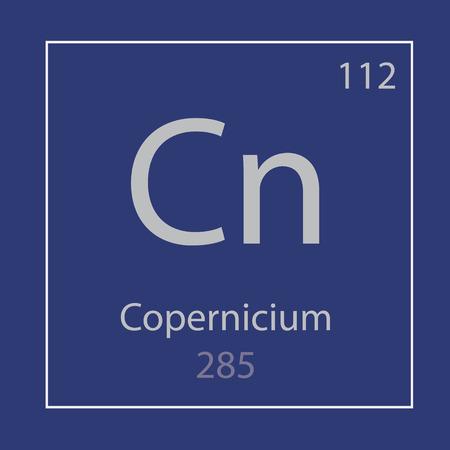 Copernicium Cn chemical element icon- vector illustration
