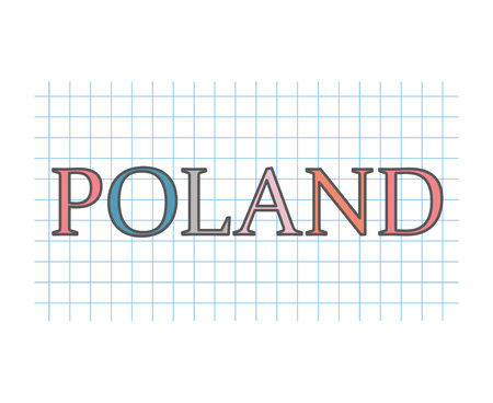 Poland concept illustration Banque d'images - 105805933