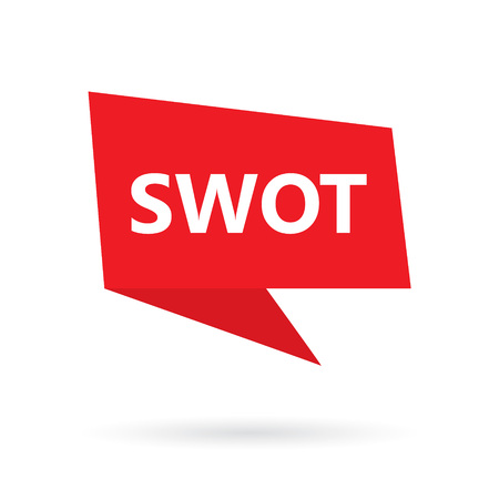 SWOT (Strengths Weaknesses Opportunities Threats on speach bubble illustration