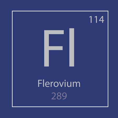 Flerovium Fl chemical element icon- vector illustration 일러스트