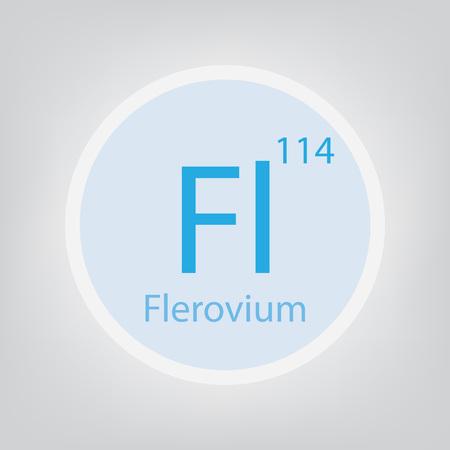 Flerovium Fl chemical element icon- vector illustration Illustration