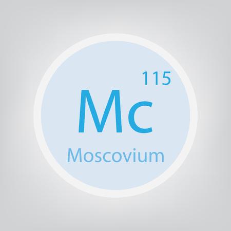 Moscovium Mc chemical element icon- vector illustration Ilustracje wektorowe