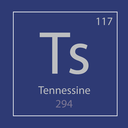 Tennessine Ts chemical element icon- vector illustration