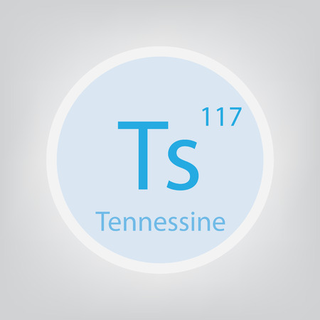 Tennessine Ts chemical element icon- vector illustration 일러스트