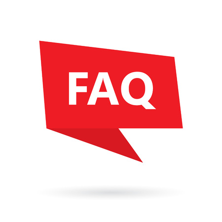 FAQ (Frequently Asked Questions) on speach bubble- vector illustrration
