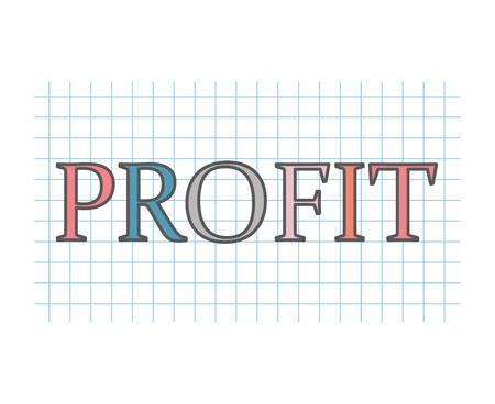 profit concept- vector illustration