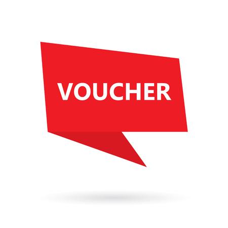 word on speach bubble voucher- vector illustration Banque d'images - 105404269