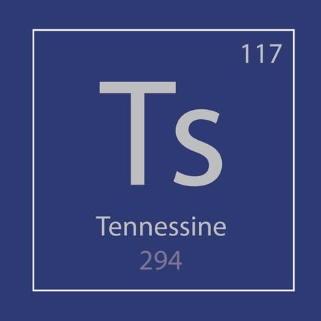 Tennessine Ts chemical element icon- vector illustration 일러스트