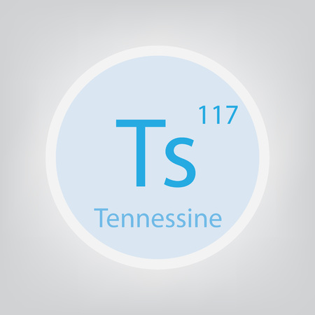 Tennessine Ts chemical element icon- vector illustration Banco de Imagens - 105404271
