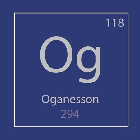 Oganesson Og chemical element icon- vector illustration Banco de Imagens - 105688688