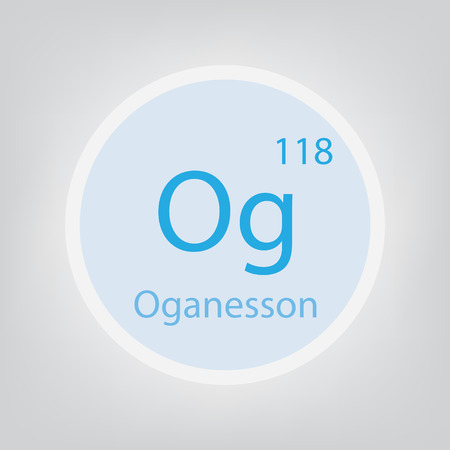 Oganesson Og chemical element icon- vector illustration