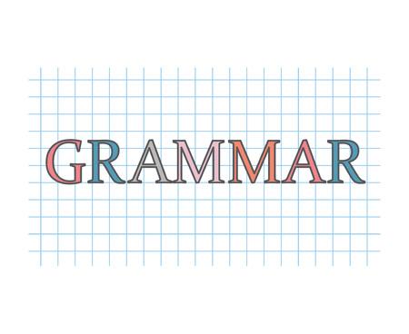 concetto di grammatica-illustrazione vettoriale