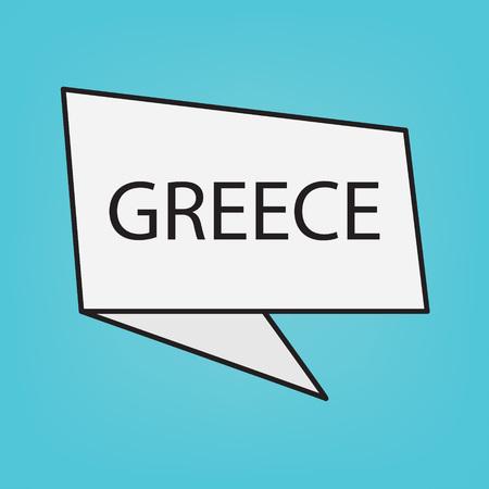 Greece word on sticker- vector illustration