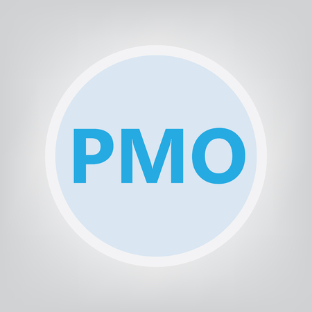 PMO (Project Management Office) concept- vector illustration