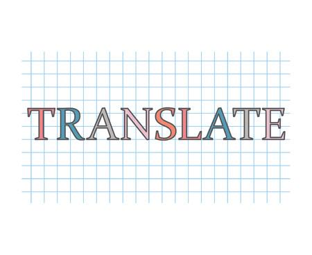 translate concept- vector illustration