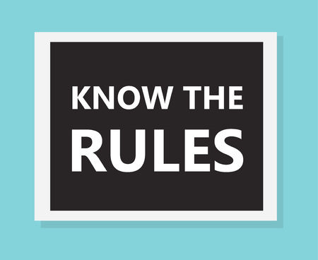 know the rules concept- vector illustration