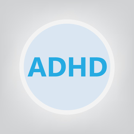 ADHD (Attention Deficit Hyperactivity Disorder) concept- vector illustration