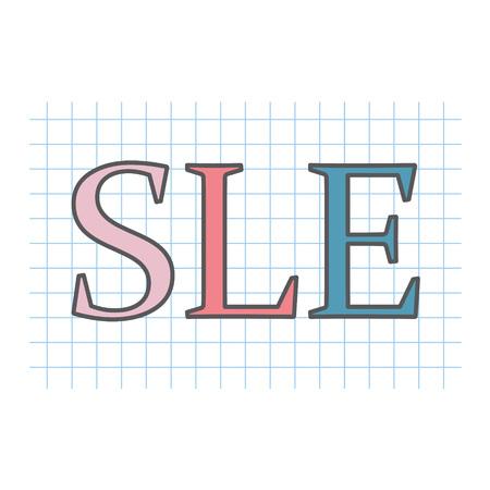 SLE (Systemic Lupus Erythematosus) written on checkered paper sheet