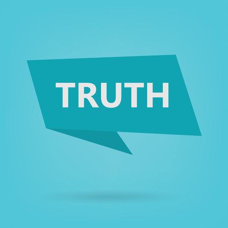 mot de vérité sur illustration vectorielle-autocollant