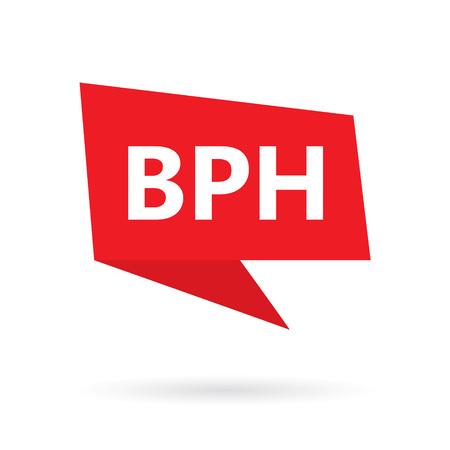 BPH (Benign Prostatic Hyperplasia) on speach bubble- vector illustration