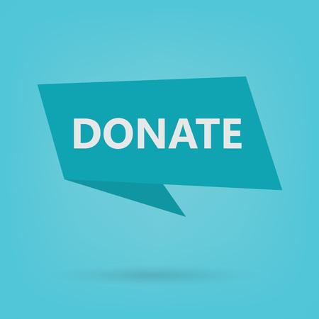 donate word on sticker- vector illustration Illustration