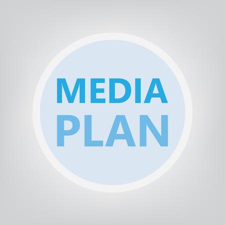 media plan concept- vector illustration