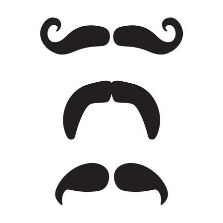 mustache icon set- vector illustration