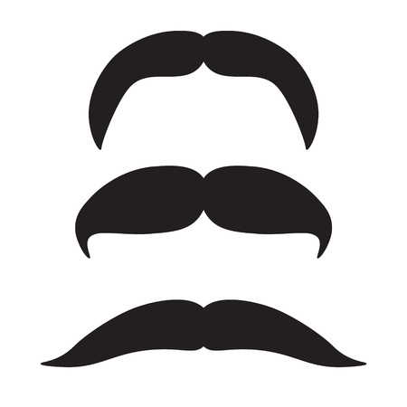 mustache icon set- vector illustration