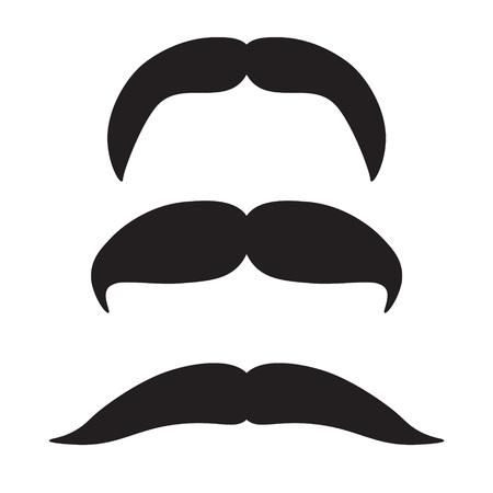 Schnurrbart Icon Set-Vektor-Illustration