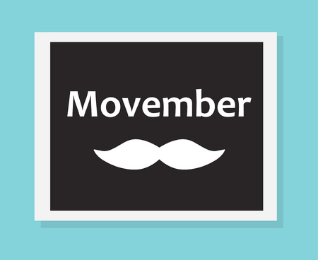 movember concept (awareness of mens health issues) - vector illustration