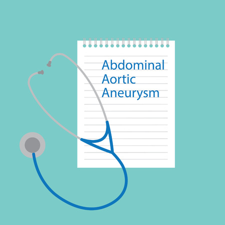 Abdominal Aortic Aneurysm written in a notebook- vector illustration