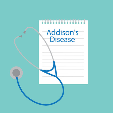 Addison's disease written in a notebook- vector illustration