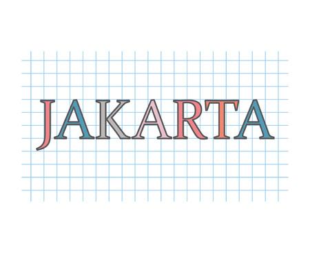 Jakarta concept- vector illustration