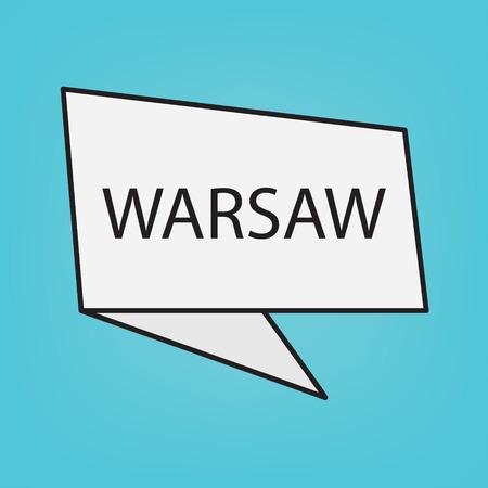Warsaw word on sticker- vector illustration Vettoriali