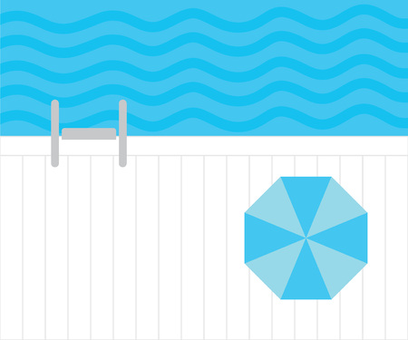 swimming pool top view- vector illustration 일러스트