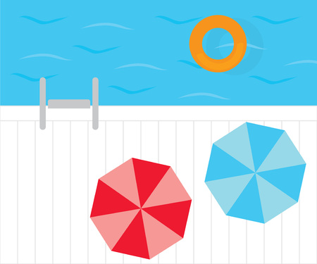 swimming pool top view- vector illustration Ilustração