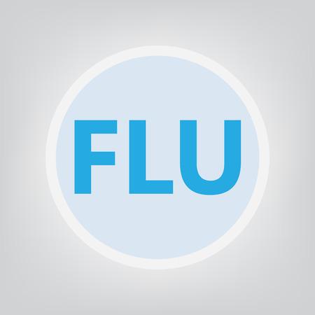 flu concept- vector illustration Ilustração