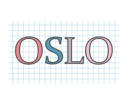 Oslo concept- vector illustration