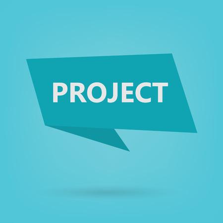 project word on sticker- vector illustration Illustration