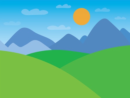 mountain landscape- vector illustration