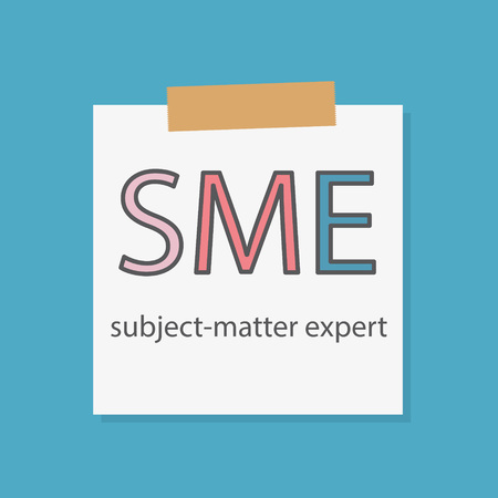 SME Subject-matter written in a notebook paper-vector illustration